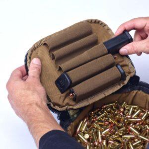 Ammo Transport Bag Woodland Camo 9mm Magazines